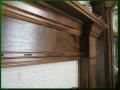 Figured Walnut Mantel Detail