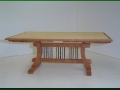 Cherry and Maple Dining Table with Extending Leaves - Folded