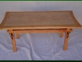 Cherry Coffee Table with Book-Matched Figured Maple