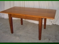 Stained Alder Farm Table, Lightly Distressed