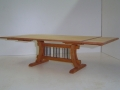 Cherry and Maple Dining Table with Leaves Extended
