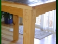 Southwestern Bar-Height Hickory and Slate Table Detail
