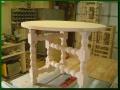 Alder Three-Legged Round Table, unfinished