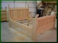 Alder Sleigh Bed - Unfinished