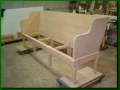 Fir Bench with Hand Carved Detail, unfinished