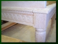 Fir Bench - Hand Carved Detail (unfinished)