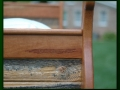 Bed Detail made from Snow Fence and Cherry