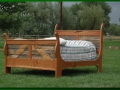 Bed made from Snow Fence and Cherry