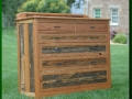 Dresser made from Snow Fence and Cherry