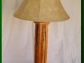 Table Lamp made from Snow Fence and Cherry