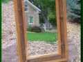 Mirror made from Snow Fence and Cherry